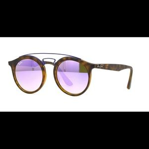 Ray-ban Lilac Gradient mirror Round 😎 glasses
